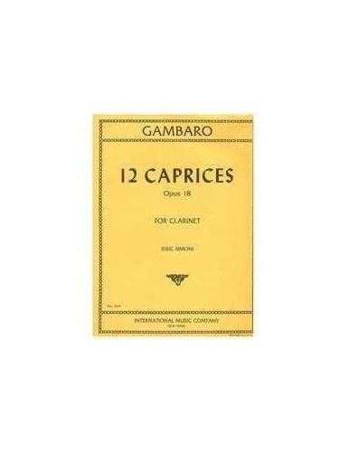 12 CAPRICHOS CLARINETE...