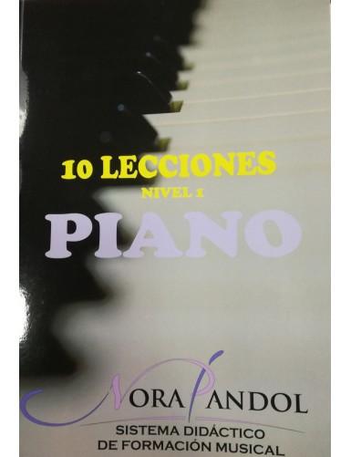 10 LECCIONES PIANO NIVEL 1...