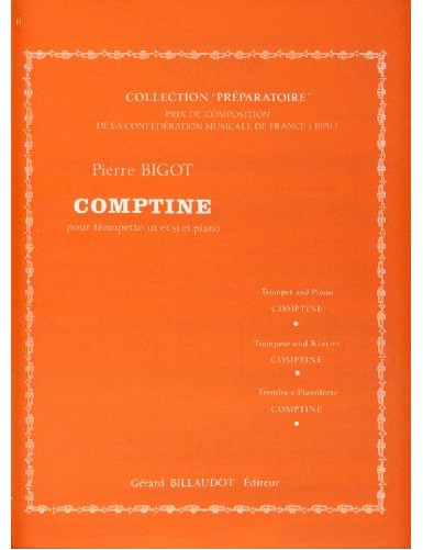 COMPTINE TROMPETA Y PIANO -...