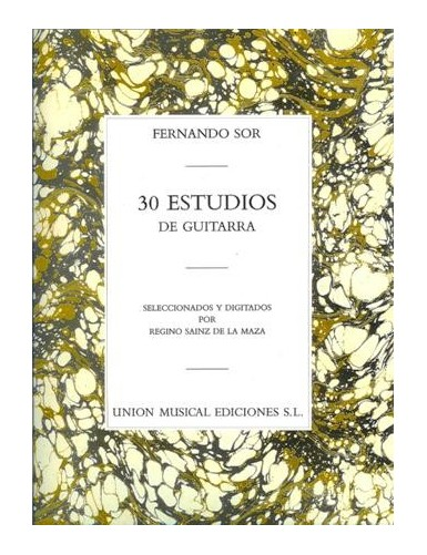 30 ESTUDIOS GUITARRA - SOR...