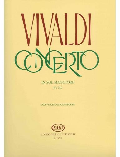 CONCIERTO SOL MAYOR RV 310...
