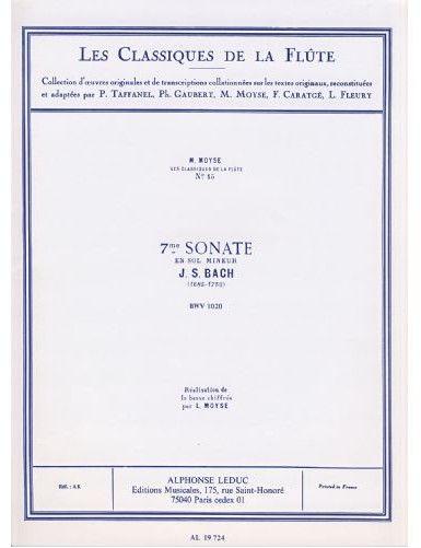 SONATA Nº7 SOL MENOR BWV...