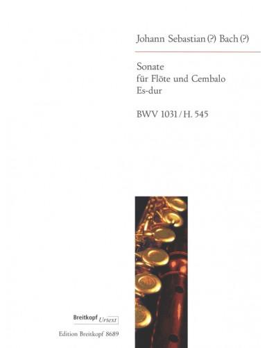 SONATA MI MAYOR BWV 1031 H 545 FLAUTA Y PIANO - BACH - ED. BREITKOPF