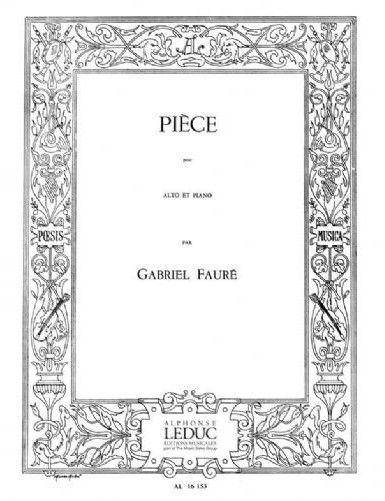 PIECE VIOLA Y PIANO - FAURE...